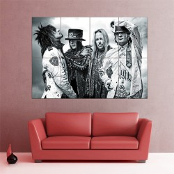 Motley Crue Hard Rock Heavy Metal Block Giant Wall Art Poster (P-1513)
