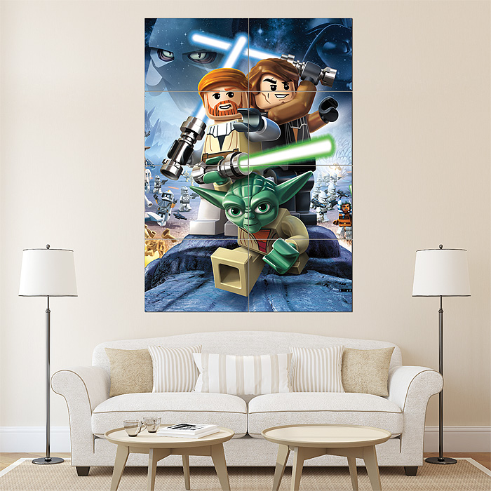 Lego Star Wars III The Clone Wars Game Giant Wall Art Poster Part 87
