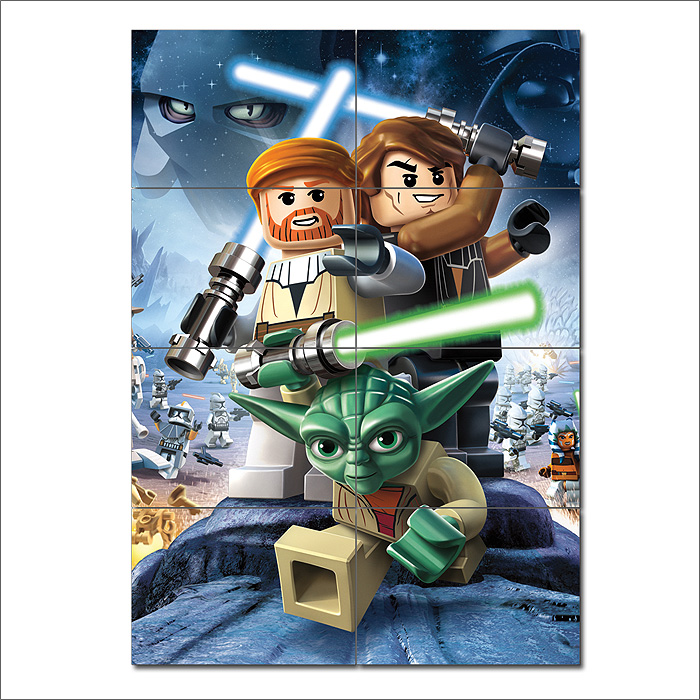 Lego star wars iii the clone wars game giant wall art poster - Image star wars lego ...