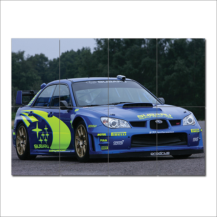 ... Subaru Impreza Rally Block Giant Wall Art Poster ... & Subaru Impreza Rally Block Giant Wall Art Poster