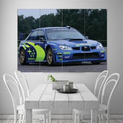 Subaru Impreza Rally Block Giant Wall Art Poster (P-1519)