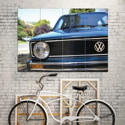 VW Golf MK1 Front Grill Classic Car Block Giant Wall Art Poster (P-1522)
