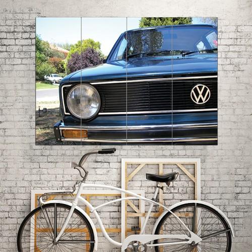 โปสเตอร์ ขนาดใหญ่ VW Golf MK1 Front Grill Classic Car