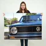 VW Golf MK1 Front Grill Classic Car Block Giant Wall Art Poster