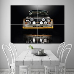 Audi Sport Quattro S1 Rally Car Block Giant Wall Art Poster (P-1527)