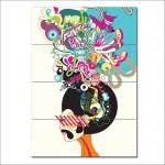 Retro Hippy 70s Funk Man Block Giant Wall Art Poster