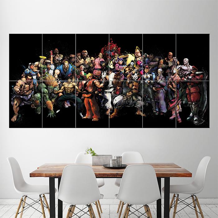 Super Street Fighter Block Giant Wall Art Poster