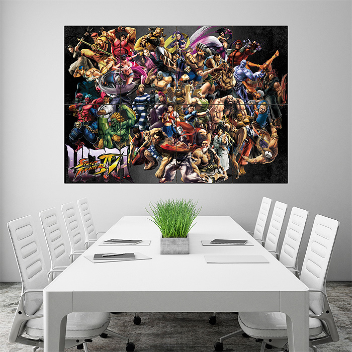 Street Fighter Of Characters Block Giant Wall Art Poster
