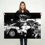 Back to The Future Doc Brown DeLorean Giant Wall Art Poster
