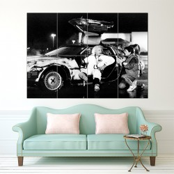 Back to The Future Doc Brown DeLorean Block Giant Wall Art Poster (P-1533)