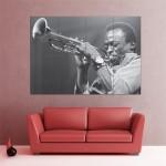 โปสเตอร์ ขนาดใหญ่ ภาพนักแต่งเพลง Miles Davis