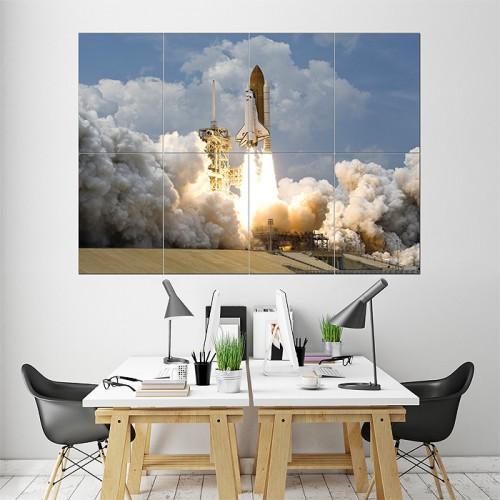 โปสเตอร์ ขนาดใหญ่ NASA spaceship taking