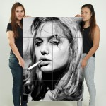 Angelina Jolie Blonde Smoking Block Giant Wall Art Poster