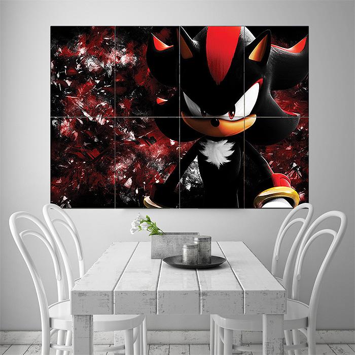 Sonic The Hedgehog Shadow Giant Wall Art Poster Print