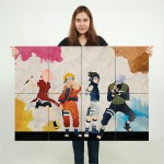 Naruto Art Block Giant Wall Art Poster