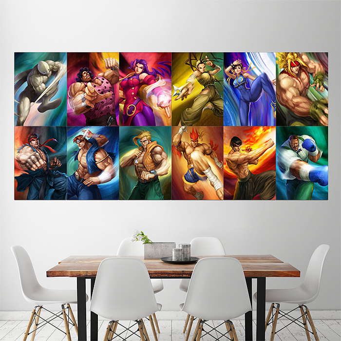 Street Fighter Characters Block Giant Wall Art Poster