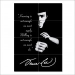 Bruce Lee Quote - Knowing is not enough Block Giant Wall Art Poster