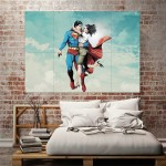 Superman and Lois Lane Block Giant Wall Art Poster