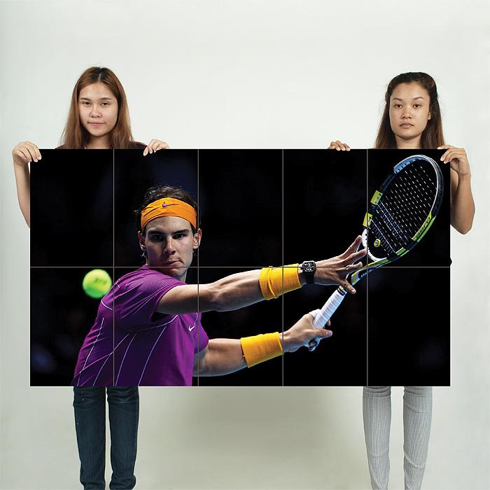 Rafael Nadal Block Giant Wall Art Poster