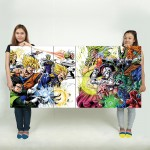 Heroes Villains Dragon Ball Z Block Giant Wall Art Poster