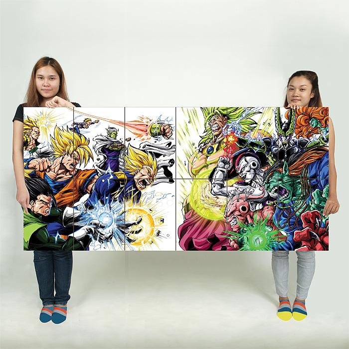 Heroes Villains Dragon Ball Z Block Giant Wall Art Poster