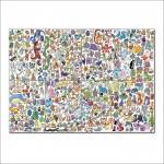 โปสเตอร์ ขนาดใหญ่ Pokemon All Monsters โปเกม่อน