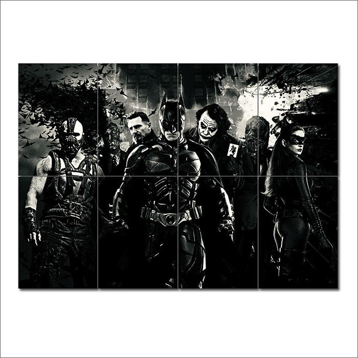 batman begins movie art block giant wall art poster. Black Bedroom Furniture Sets. Home Design Ideas