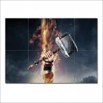 โปสเตอร์ ขนาดใหญ่ The Dark World Thor Mjolnir