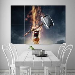 โปสเตอร์ ขนาดใหญ่ The Dark World Thor Mjolnir  (P-1567)