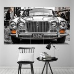 Classic Jaguar XJ6 Block Giant Wall Art Poster