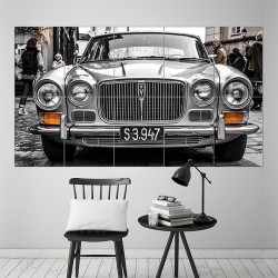 Classic Jaguar XJ6 Block Giant Wall Art Poster (P-1570)