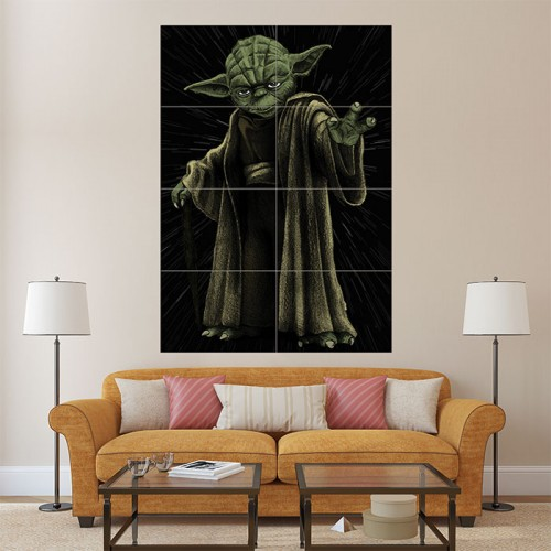 Yoda - Star Wars Block Giant Wall Art Poster