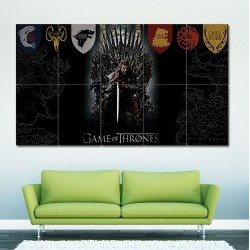 Game Of Thrones Movie Block Giant Wall Art Poster (P-1574)