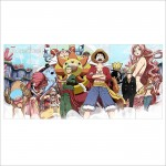 Straw Hat Pirates One Piece Anime Block Giant Wall Art Poster