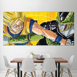 Dragon Ball Z Goku vs Cell Block Giant Wall Art Poster (P-1580)
