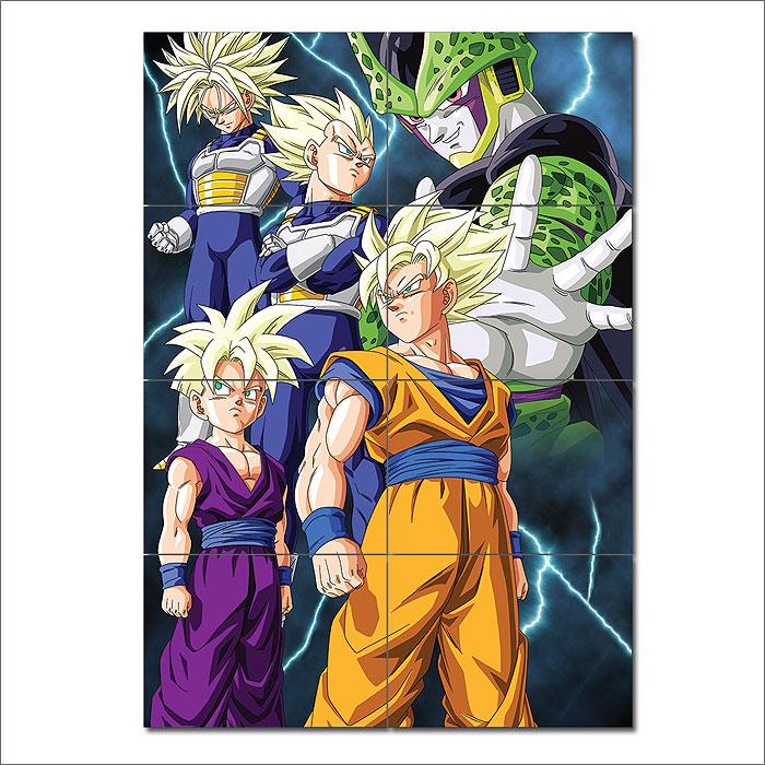 Cell Saga Kai Dragon Ball Z Block Giant Wall Art Poster