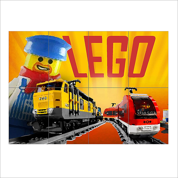 Train Block Giant Wall Art Poster