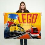โปสเตอร์ ขนาดใหญ่ Lego Train games