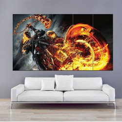 Ghost Rider Block Giant Wall Art Poster (P-1584)