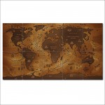 World Map Wide Block Giant Wall Art Poster