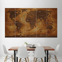 World Map Wide Block Giant Wall Art Poster (P-1585)