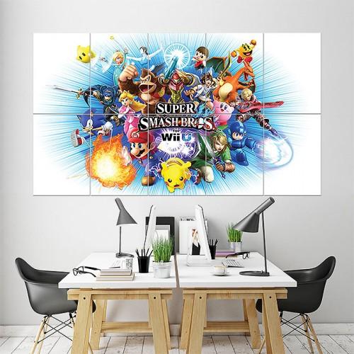 Super Smash Bros Anime Block Giant Wall Art Poster