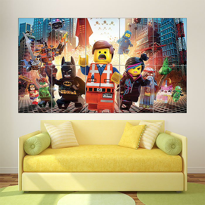 The Lego Movie 2014 Block Giant Wall Art Poster