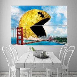 Pixels Packman Block Giant Wall Art Poster (P-1590)