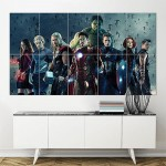 Avengers Age of Ultron 2015 Movie Block Giant Wall Art Poster