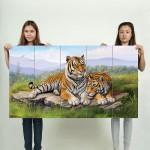 โปสเตอร์ ขนาดใหญ่ ภาพศิลปะ Tigers Art เสือโคร่ง