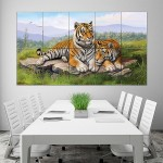 Tigers Art Block Giant Wall Art Poster