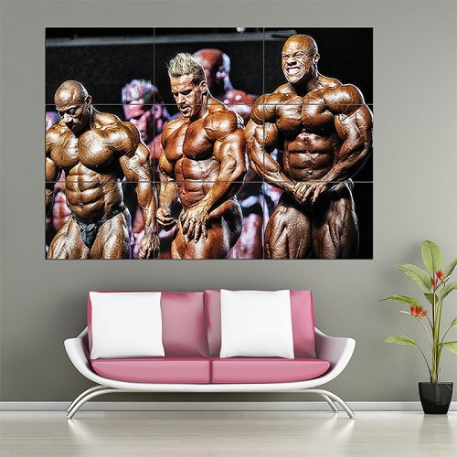 Bodybuilding Mr.Olympia Block Giant Wall Art Poster