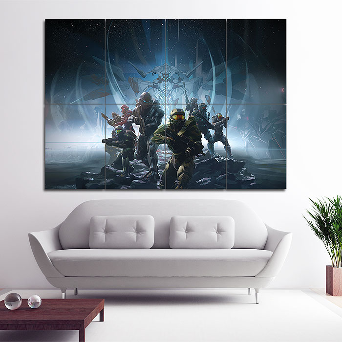 Giant Wall Art 5 guardians game block giant wall art poster
