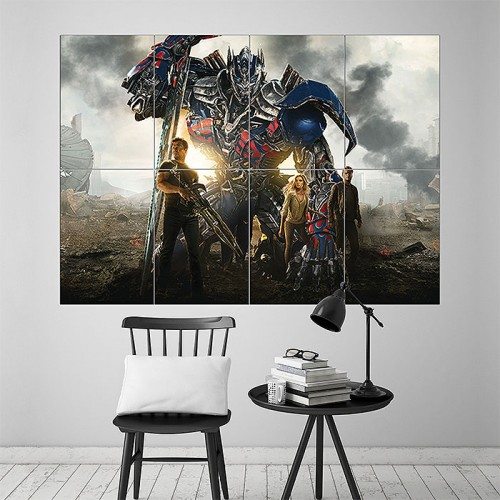 Transformers 4 Age of Extinction Block Giant Wall Art Poster